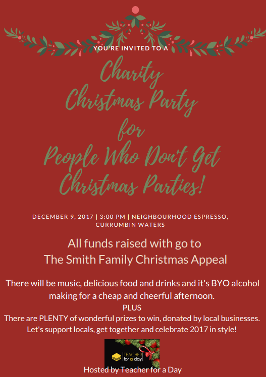 Charity Christmas Party for People Who Don't Get Christmas Parties